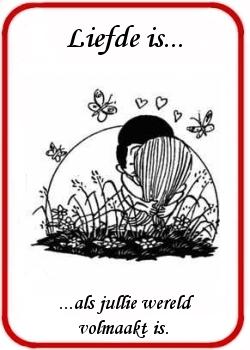 Verwonderlijk Liefde is... plaatjes spreuken cartoons afbeeldingen teksten BD-89