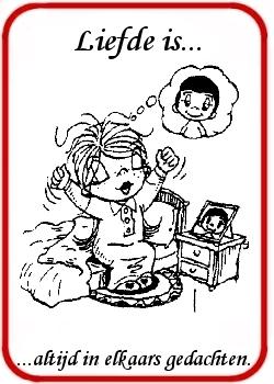 Vaak Liefde is... plaatjes spreuken cartoons afbeeldingen teksten #AY66